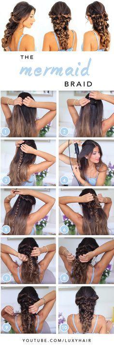 Mermaid Braid Tutorial — Luxy Hair Blog - All about hair!