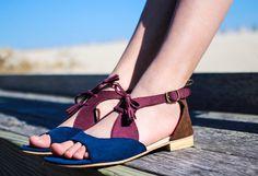 Sadie color-block sandal