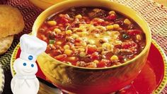 Tasty Taco Soup from Pillsbury (note the reviews & comments)