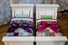 DIY Doll Beds and Doll Quilts - Great Idea for Presents for the Girls