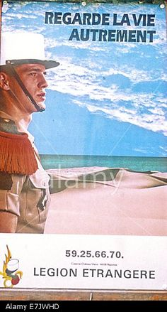 France: Foreign Legion Recruiting Poster, Bayonne, (landes) Stock Photo, Picture…