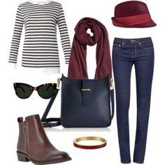 Sunday afternoon stroll...  Combine Burgundy & Blue for a perfect Sunday afternoon stroll outfit. Comfortable & stylish!  http://www.asburylanestyle.com/blog/sunday-afternoon-stroll  #sundayafternoon #burgundyandblue #asburylanestyle