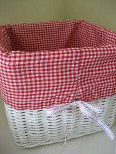 How to make basket liners!