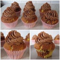 Today's baking...Marble Cupcakes With Nutella Buttercream Topping ☺