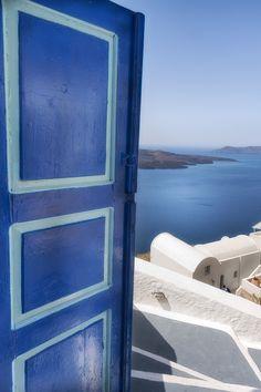 Door to the sea...Santorini , Greece