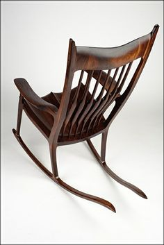 Rocking chair inspired by Sam Maloof