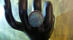 Turquoise Sterling Silver ring, size 8. by FierStaarGems on Etsy
