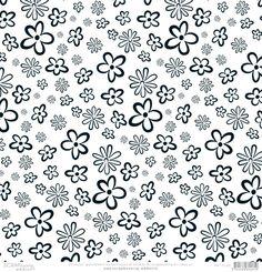 Papier scrapbooking Fleurs Noir et Blanc de Scrapbooking-addict.fr