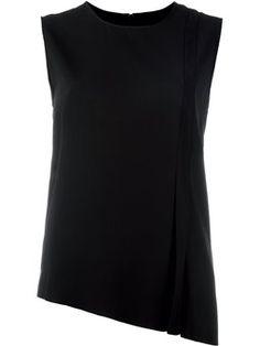 asymmetric pleated blouse