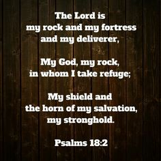 My rock and my fortress...