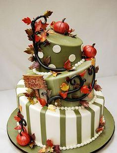 Torta na jesenski poroki