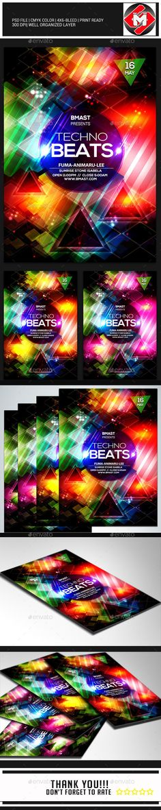 Techno Beats Flyer Template PSD | Buy and Download: http://graphicriver.net/item/techno-beats/8844045?WT.ac=category_thumb&WT.z_author=devil_rain&ref=ksioks