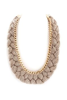 Mesh Grace Necklace in Soft Gold
