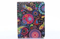 """Fashion Flower Stand Card Folio PU Leather Case Cover For Samsung Galaxy Tab 4 10.1"""" T530"""