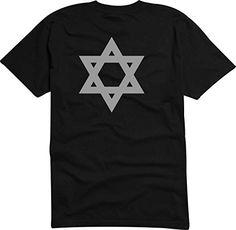 T-Shirt - Camiseta D960 Hombre negro con la impresión en color XXL - diseño cómico / gráfico logo / gran estrella de David Israel judaísmo Palästina #camiseta #starwars #marvel #gift