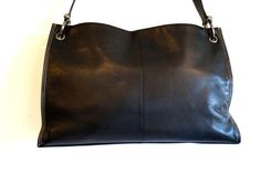 Vintage real leather black handbag.  Jane Shilton by vintagdesign