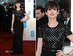 Anne Hathaway In Burberry – 2013 BAFTA Awards