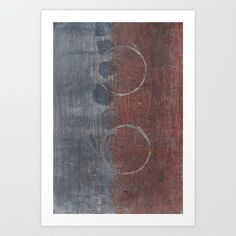 Jan. 2017 - Another small abstract study.  painting acrylic abstract red black grey circles ethereal texture