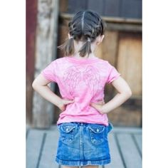Tiny Hiney Angel Wings Burnout Tee - Assorted Colors $28.00