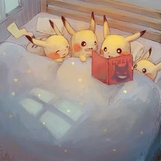 They're so adorable! I love pokemon fan art, e… Sleepy nighttime pikachu drawing! They're so adorable! I love pokemon fan art, especially when it's a cute scene like this! Pokemon Fan Art, Pokemon Memes, All Pokemon, Pokemon Especial, Pokemon Mignon, Images Kawaii, Chibi, Pikachu Drawing, Cute Pokemon Wallpaper