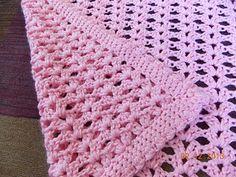 Gossamer Crochet Baby Blanket ~ free pattern ༺✿ƬⱤღ  https://www.pinterest.com/teretegui/✿༻