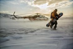 Photo by Jimmy Chin With heli transport grounded by high winds snowboarder Chuck battles through a whipping wind storm towards shelter in northern latitudes of parts unknown. by natgeo Jimmy Chin, Snowboards, Snowboarding Photography, National Geographic Adventure, Parts Unknown, Ski And Snowboard, Extreme Sports, Winter Sports, Vacation Trips