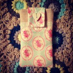 handmade fabric phone case