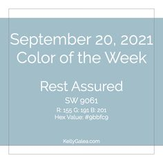 Your Color of the Week and energy reading for the week of September 20, 2021. Color vibes to help bring a sense of peace, optimism and renewal.