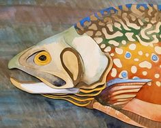 Brook Trout Paper Sculpture / I wonder if I could do this?