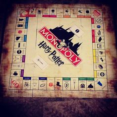 DIY harry Potter Monopoly with printouts!!