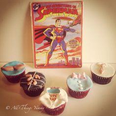 #fathersday #superhero #superdad #superman #cupcakes #bowtie #tie #daddy