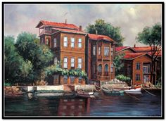 Tablocu Boat Painting, Landscape Paintings, Oil Paintings, Istanbul, Stained Glass, Watercolor, Drawings, Illustration, Artwork