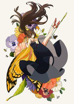 Jiao Circular Head printemps の Character Illustration, Illustration Art, Alice, Fanart, Cool Animations, Beautiful Anime Girl, Manga Characters, Anime Art Girl, Anime Girls