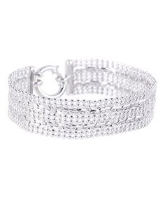 Another great find on #zulily! Sterling Silver Two-Row Bead Bracelet #zulilyfinds