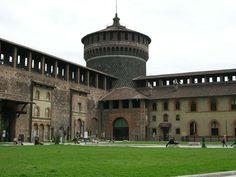 Sforzesco Castle Round Tower Milan