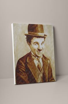 Large Canvas Prints, Charlie Chaplin, D1, Store, Natural, Artist, Painting, Larger, Artists