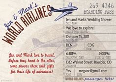 Shop Airline Ticket Bon Voyage Party Invitation created by bnuteproductions. Personalize it with photos & text or purchase as is! Going Away Party Invitations, Bridal Shower Invitations, Custom Invitations, Birthday Invitations, Invitation Ideas, Motto, Bon Voyage Party, Going Away Parties, Travel Party