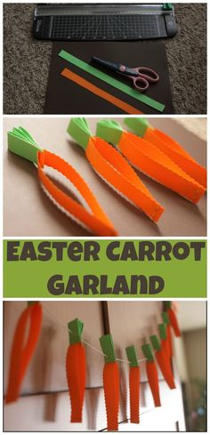 Easy to follow step by step directions to make this adorable Easter Carrot Garland