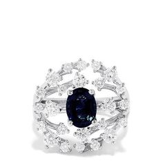 Effy Royale Bleu 14K White Gold Blue Sapphire and Diamond Ring, 2.67 TCW Cyber Week Deals, Effy Jewelry, Black Friday Deals, Holiday Fashion, Round Diamonds, Blue Sapphire, White Gold, Stone, Rings