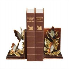 Butterflies Foraging Bookends