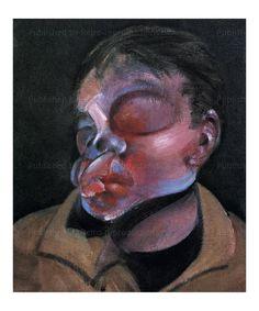 Autoportrait a l'oeil blesse 1972, Francis Bacon, art print