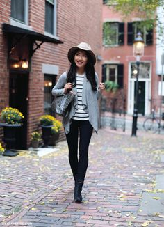 6b7f856231 Fall staples + how to get hats to stay on your head