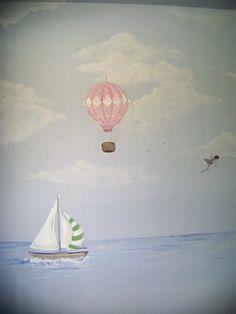 Hot Air Balloon Mural