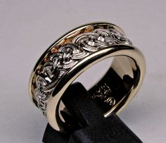 Beautiful celtic knot gold and diamond band by postgatejewelers, from etsy