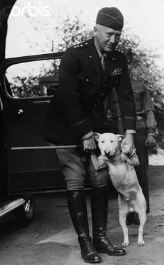 General Patton with his bullterrier