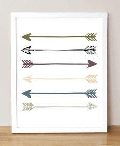 Arrows - 8x10 Framable Art Print Illustration