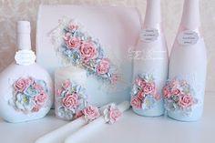 """Крылья капризной души...: Нежнейший свадебный комплект в модном цвете сезона 2016 """"Розовый Кварц - Безмятежность"""""""