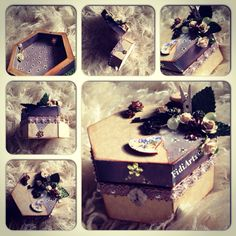 Altered trinket box by Fidiarts