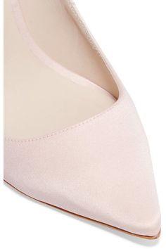 Sophia Webster - Coco Crystal Embellished Satin Pumps - Pastel pink - IT37.5