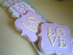 Love Lacey Hearts Custom Cookies via Etsy.